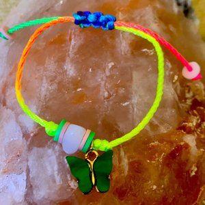 Butterfly 🦋 rose Quartz stone healing bracelet